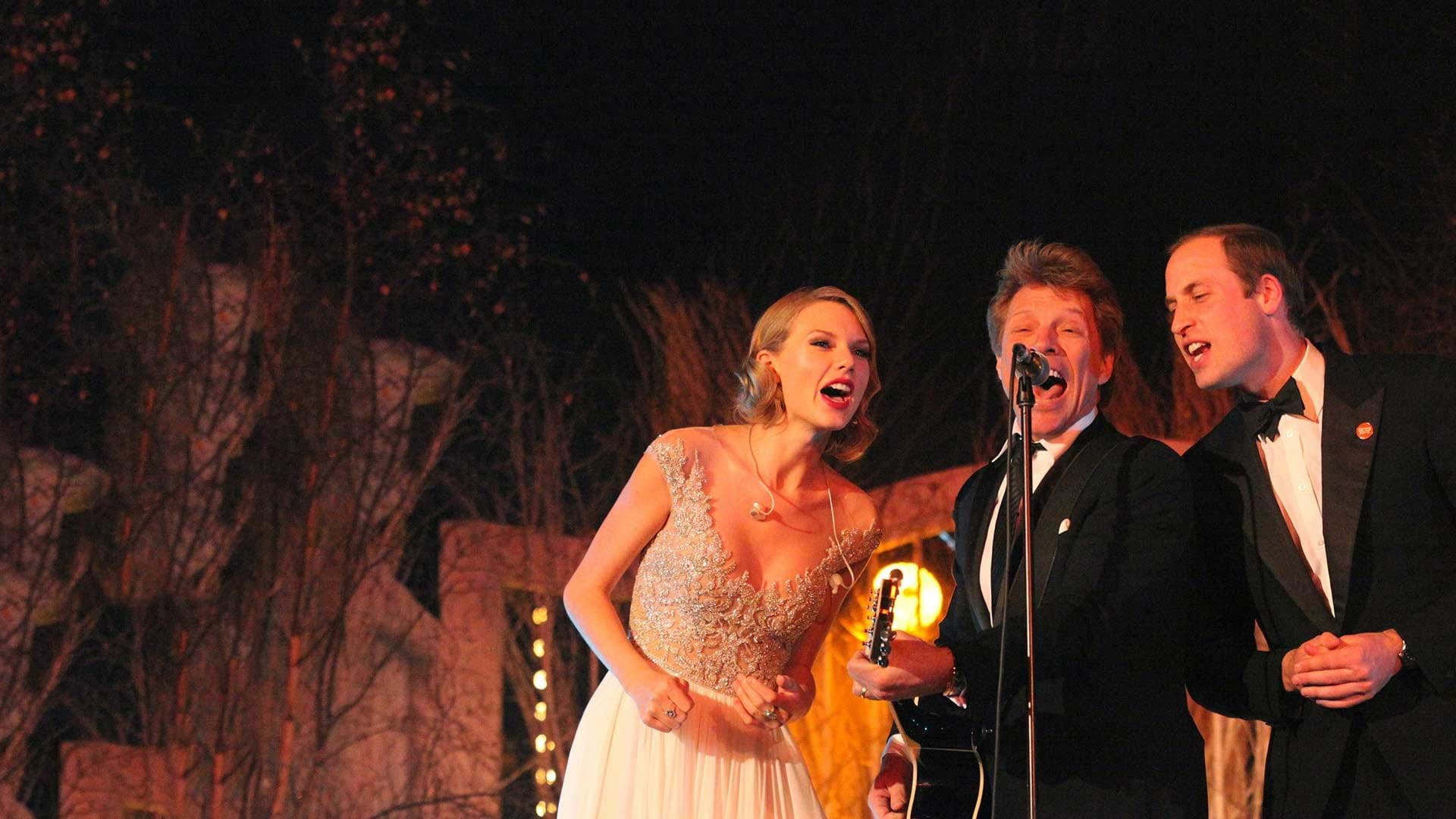 Jon Bon Jovi, Taylor Swift and Prince sing together at a Centrepoint event