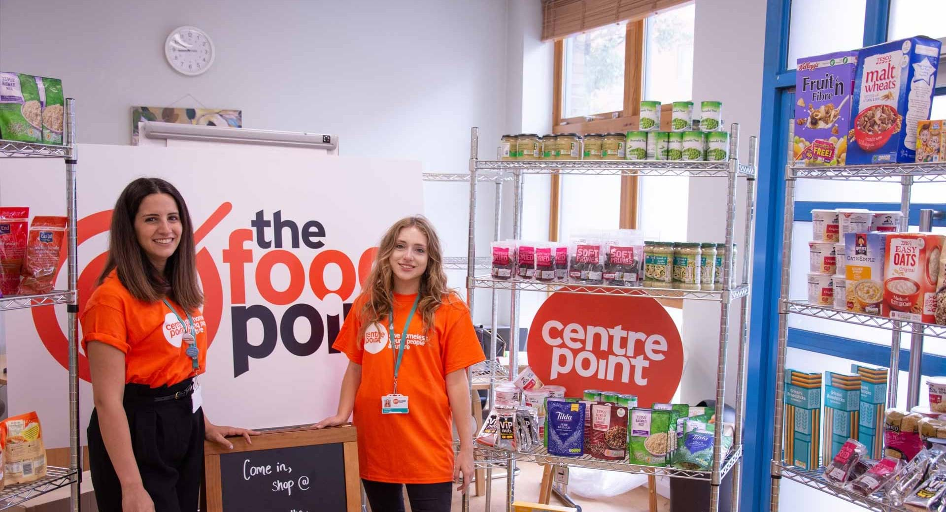 Nadeen Haidar and Isabel Rice, Centrepoint's in-huse dietitians.