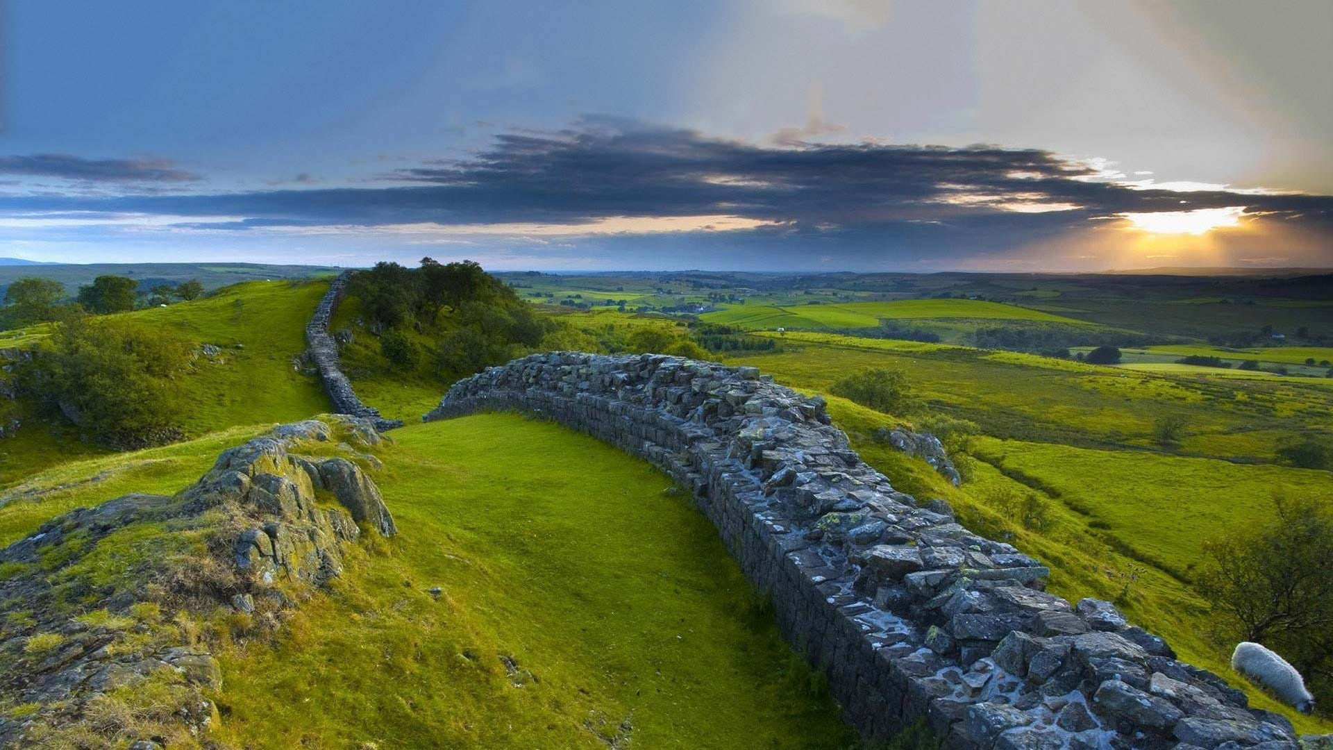 Hadrian's Wall in Northumberland. You can take part in this year's Hadrian's Wall Challenge by registering your interest.