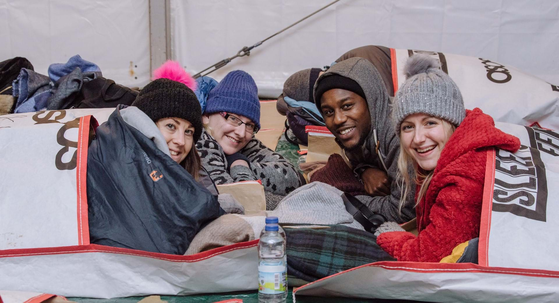 Some supporters attend our annual Sleep Out