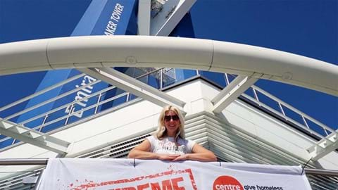 Phoebe Smith at the Spinnaker Tower, Portsmouth