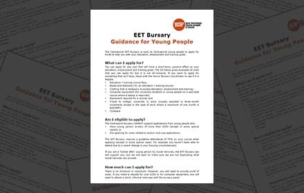 EET Bursary, guidance for young people