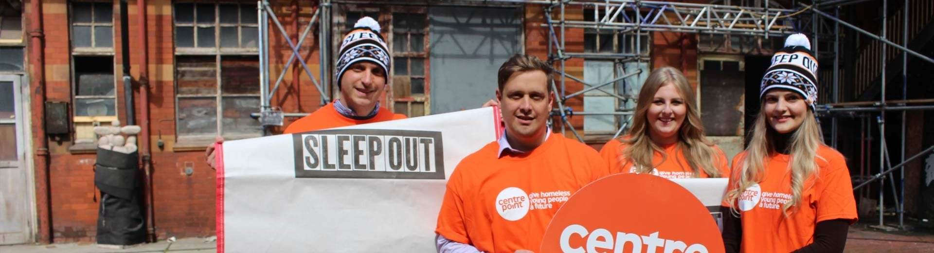 Sleep Out Manchester participants
