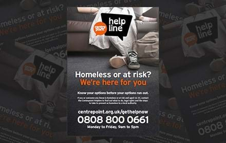 Download The Centrepoint Helpline's flyer