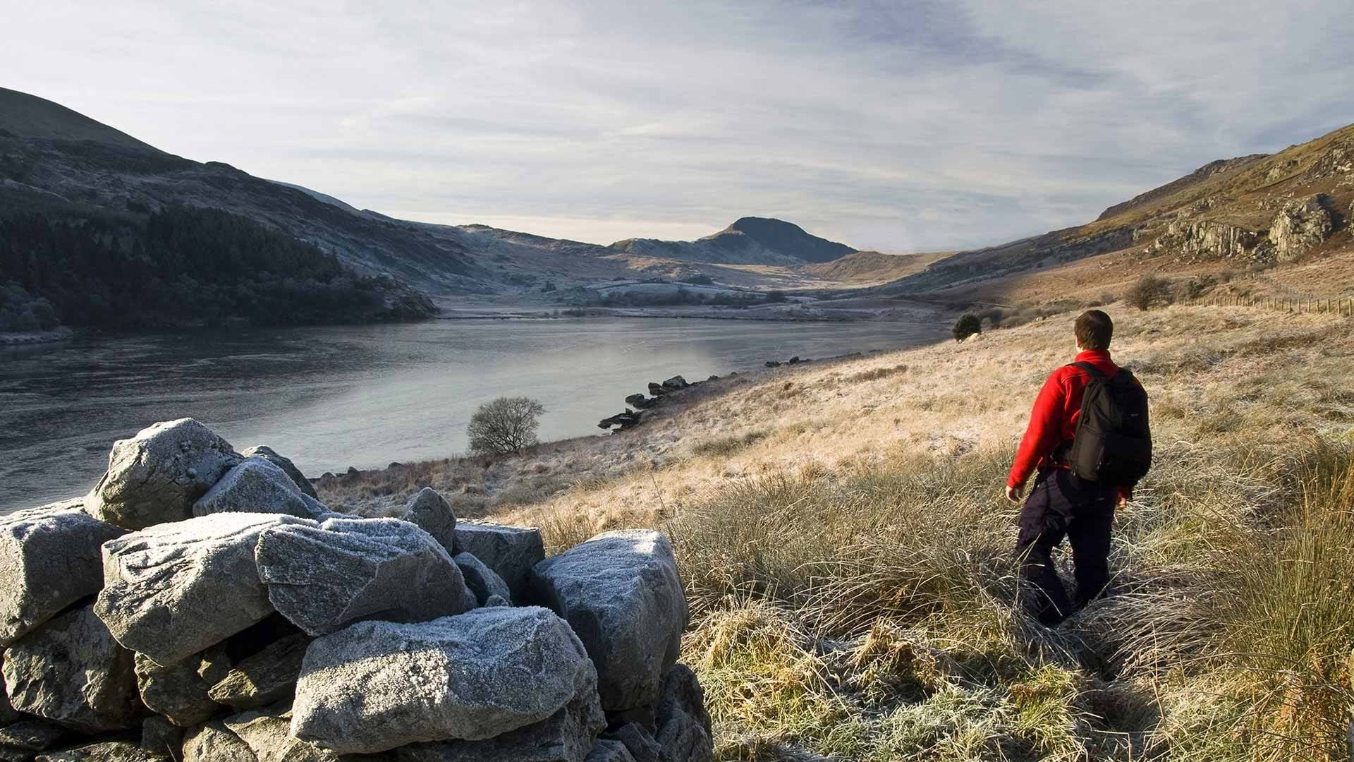 A man takes on Centrepoint's Yorkshire Three Peaks challenge.