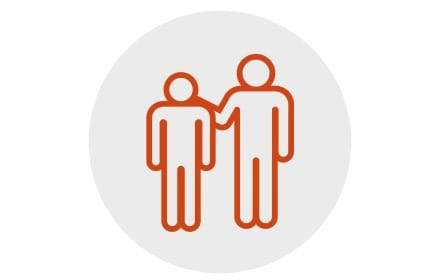 An icon representing Centrepoint provides support from those leaving supported accommodation.