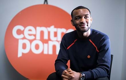 Georges, a previously homeless young man supported by Centrepoint.