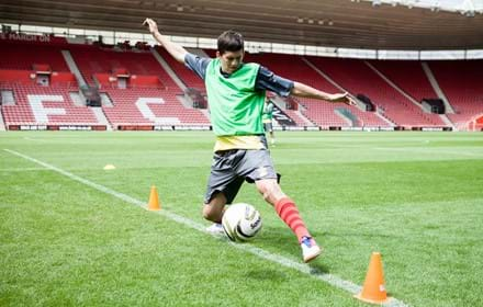 Street football training at Southampton's St Mary's