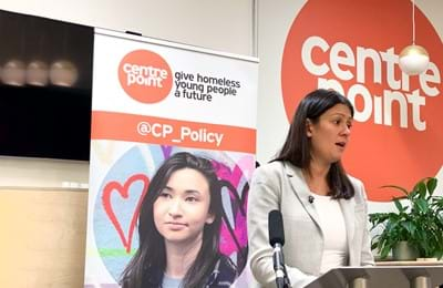Labour hopeful Lisa Nandy visits Centrepoint