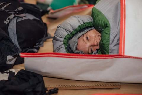 Participants at Centrepoint's Sleep Out event, community fundraising for homeless young people.