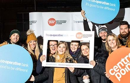 The Co-operative Bank staff at Sleep Out