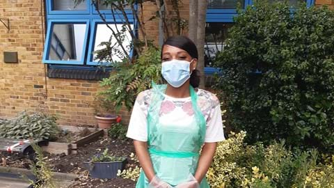 A Centrepoint Employee in PPE