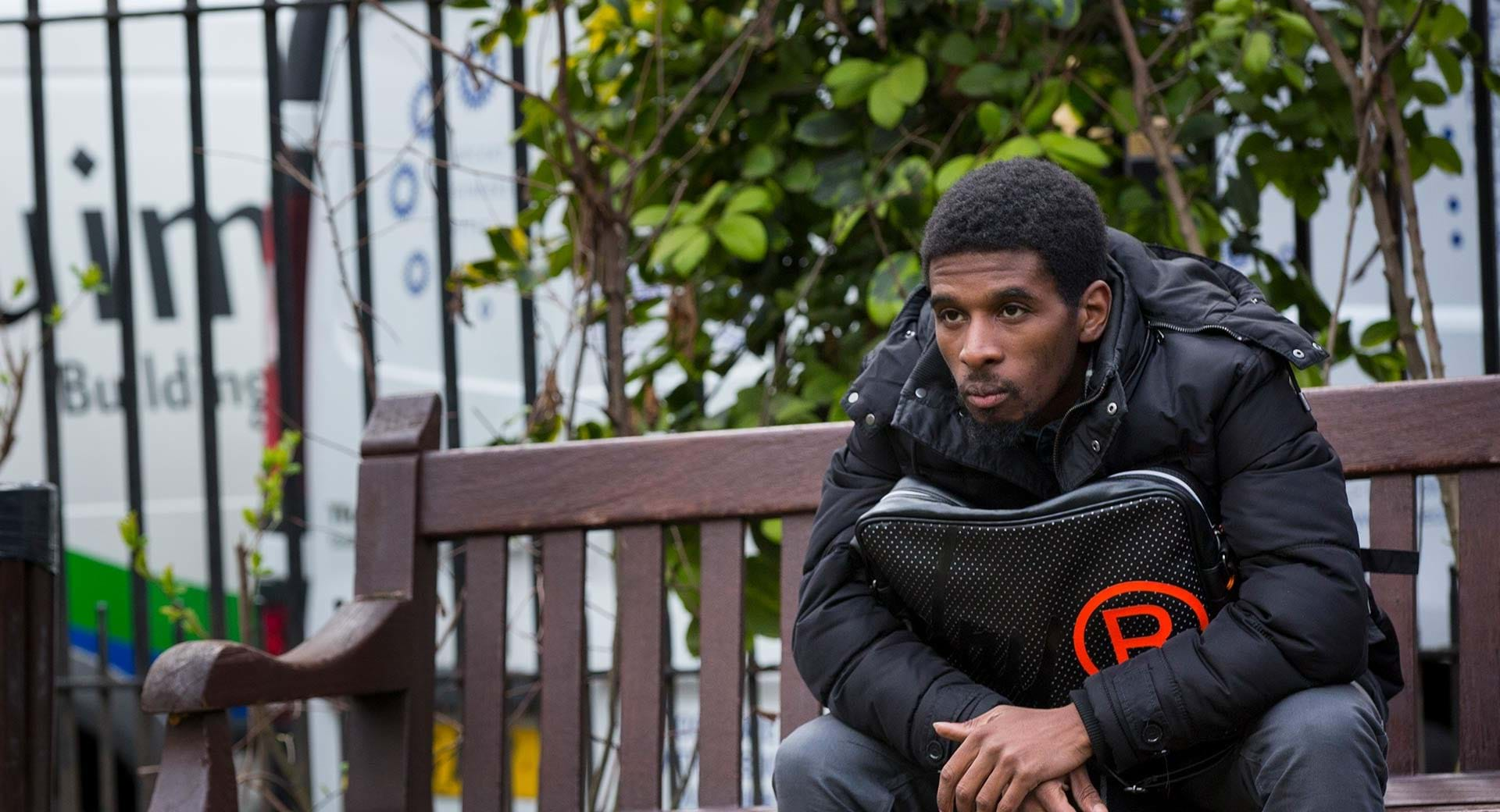 An image of Josh, who used to be a homeless young person. The youth homelessness charity Centrepoint helped him recover and get back on his feet.