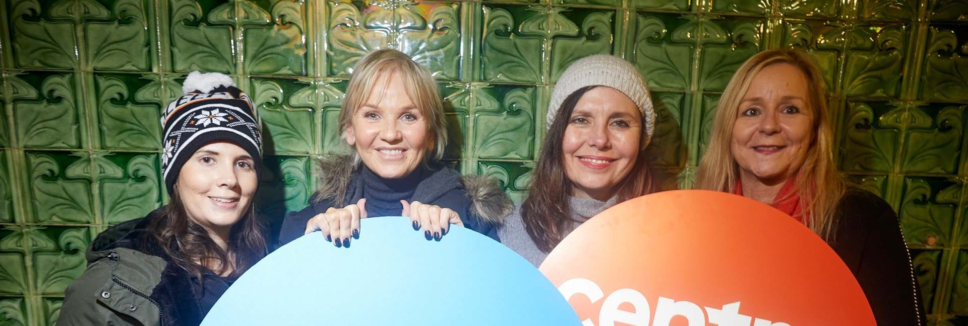 Centrepoint and The Co-operative Bank staff with Lisa Maxwell at Sleep Out Manchester.