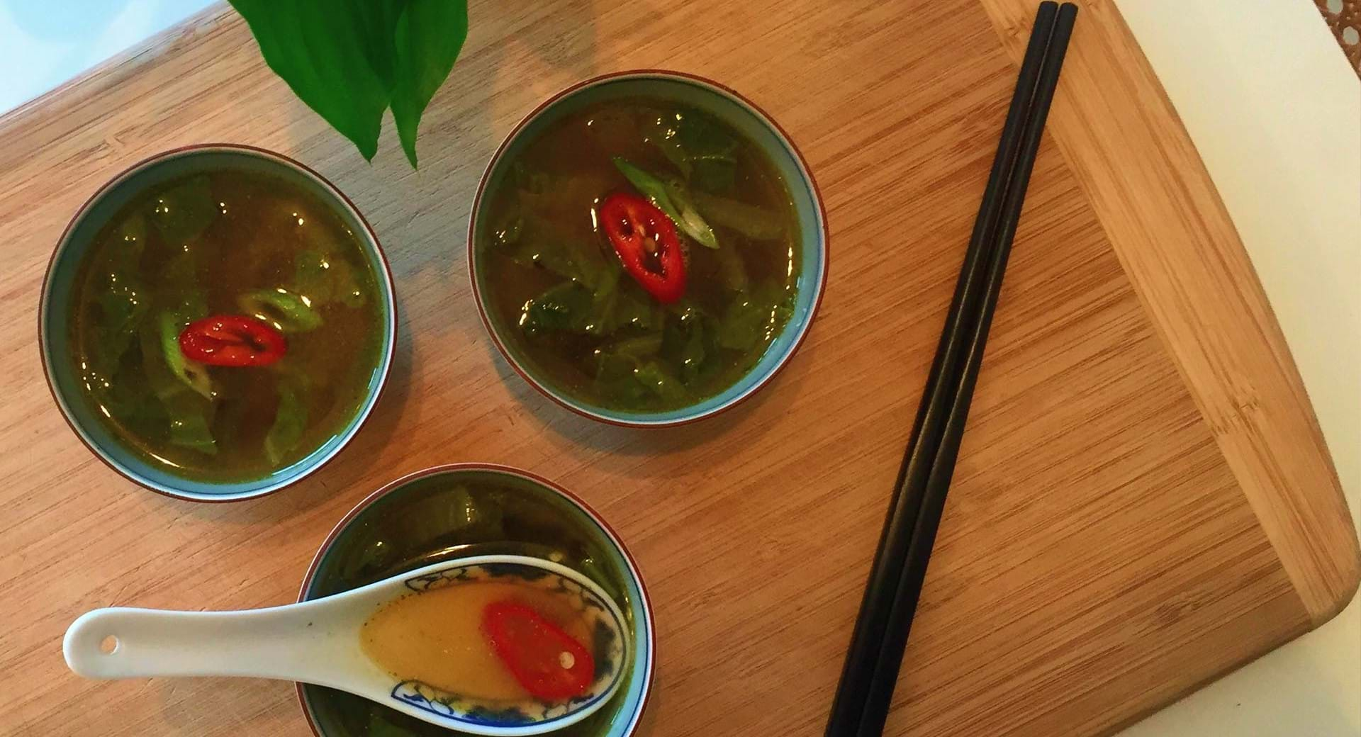 Ken Hom's Chinese Cabbage Soup