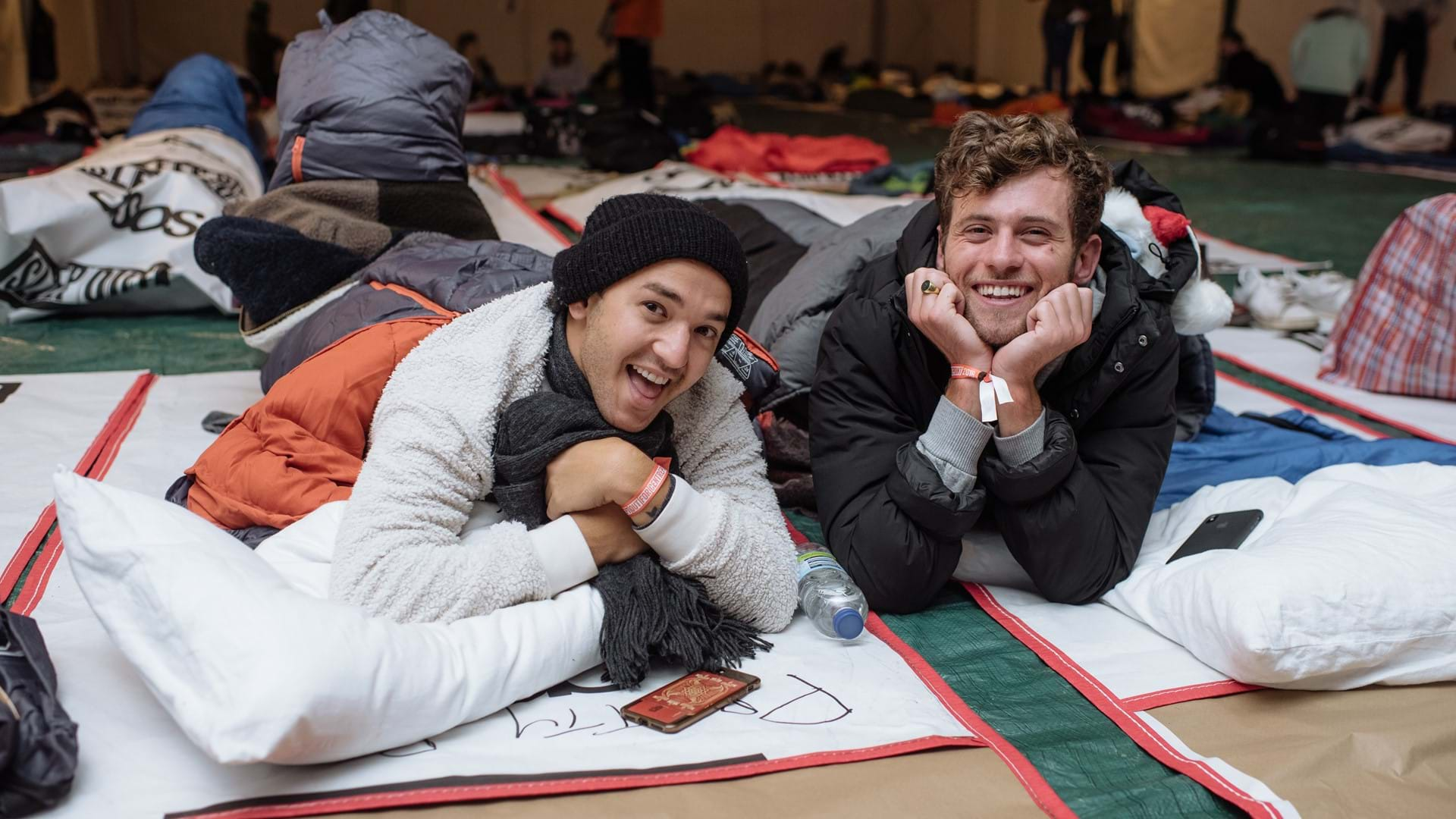 Sleep Out participants.