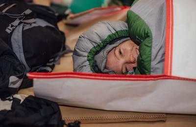A Centrepoint supporter at our annual Sleep Out event