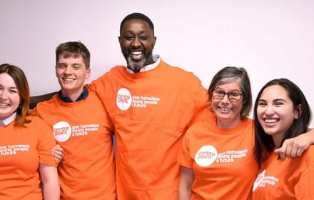 A group Centrepoint supporters raise money to help homeless young people.