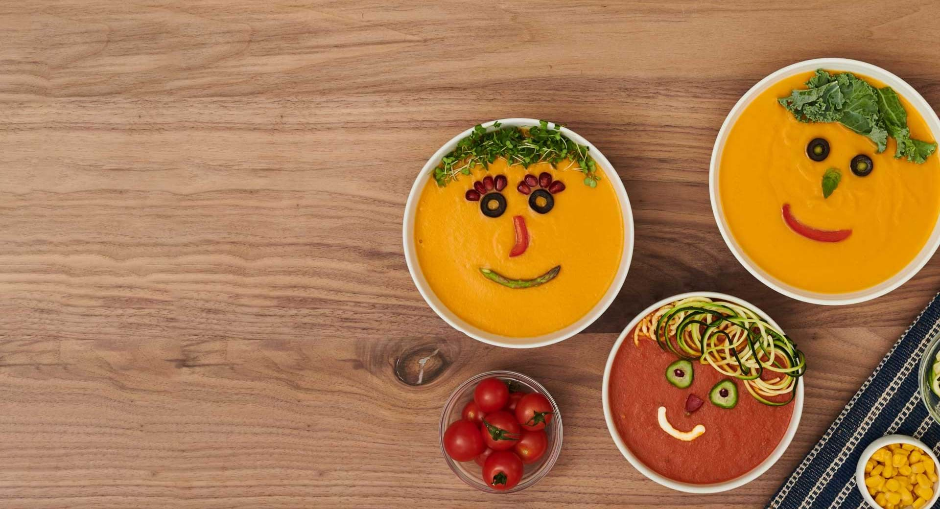 Top your soup with a smile.
