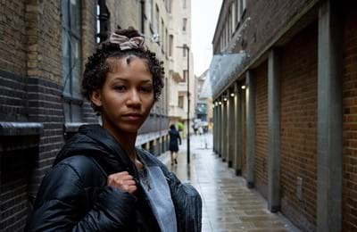 Young girl on London street. With your help, we can help get young people into Centrepoint services