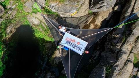 Team Extreme at Gaping Gill.