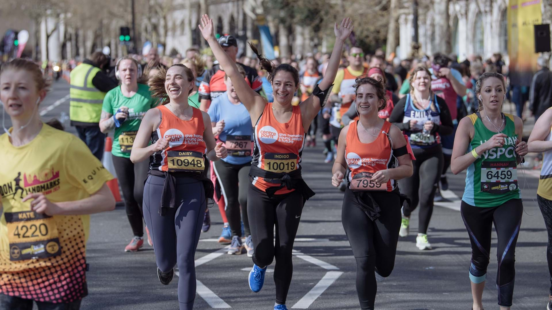A Centrepoint runner at the London Landmarks Half Marathon.