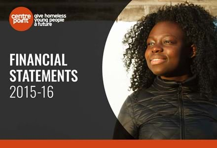 The front page of Centrepoint's 2015-16 Financial Statements