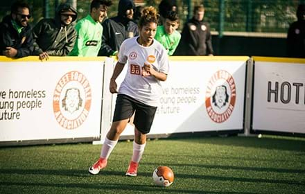 Okasia, Street Football Team England player