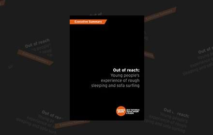 Out of reach: Young people's experience of rough sleeping and sofa surfing