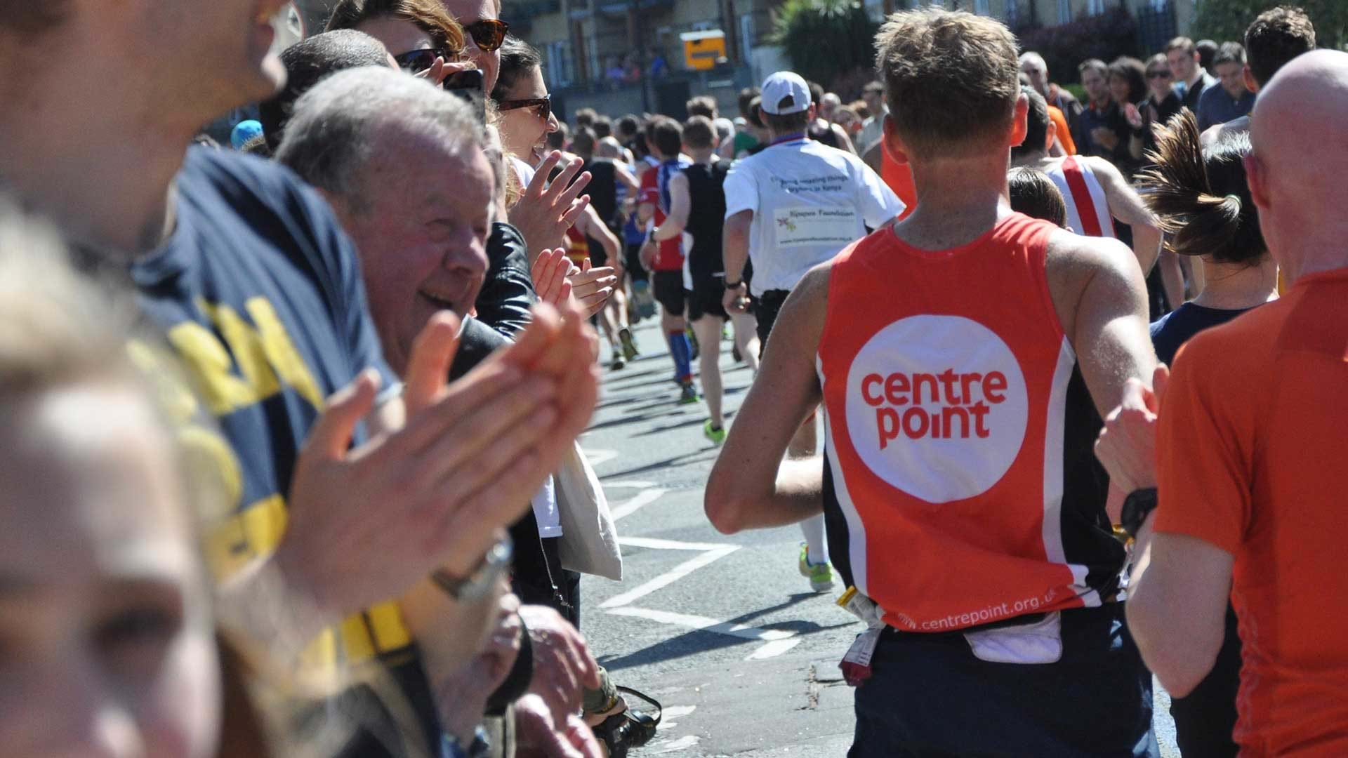 Centrepoint runner from the back