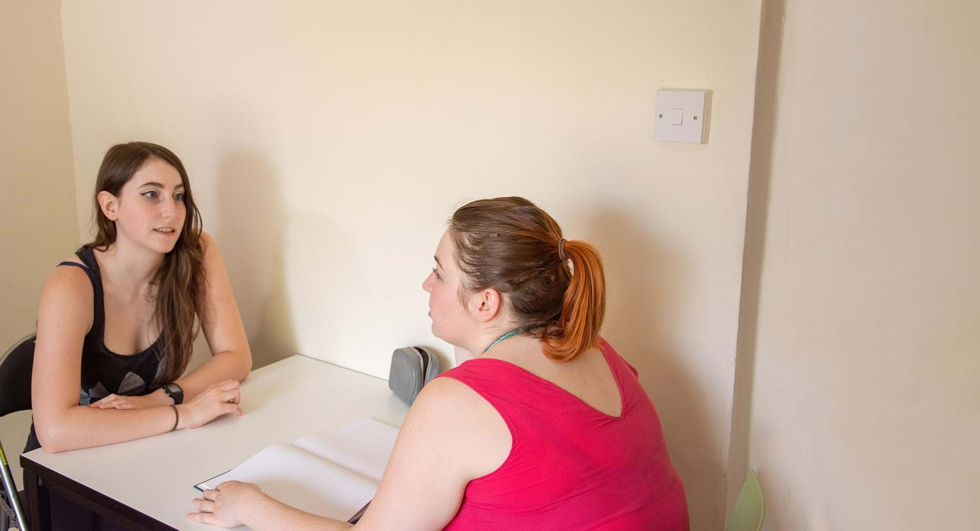 A young person having a health check at Centrepoint.