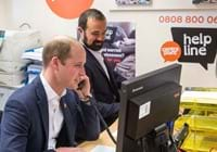 Helpline launch prince william banner.jpg