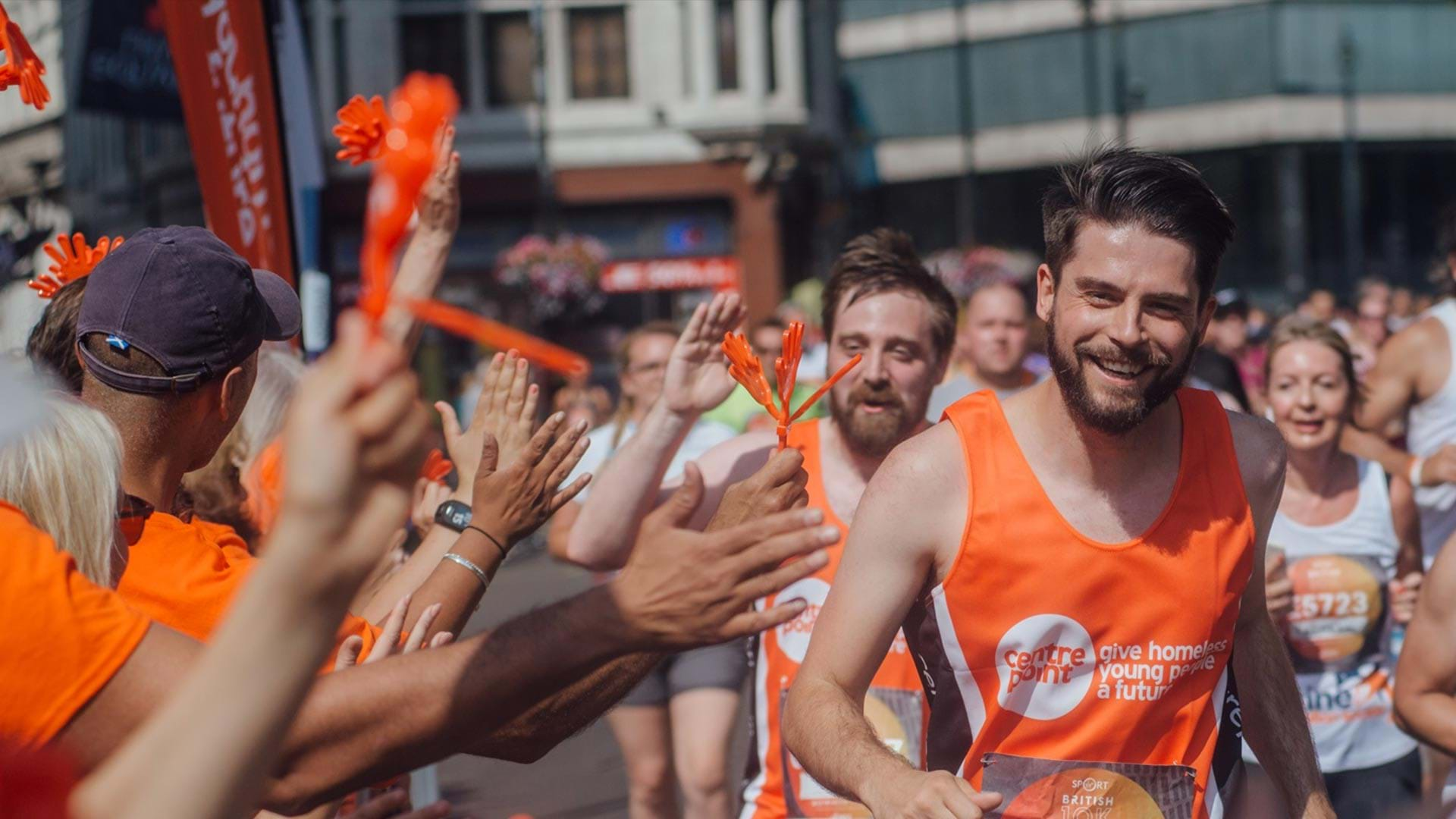Centrepoint supporter runs the British 10K.